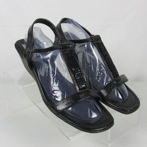 Anne Klein Sport Misse Sandals Size 8.5 Black
